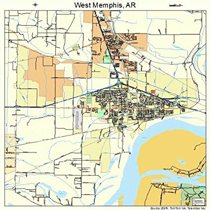 Amazoncom Large Street Road Map of West Memphis Arkansas AR
