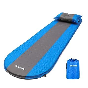 SGODDE Aufblasbare Matratzen, Tragbare Selbstaufblasbare Luftmatratze,  Ultraleichte 3 Cm Aufblasbare Isomatten, Wasserabweisend Und