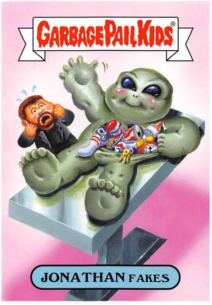 Amazon Com 2019 Topps Garbage Pail Kids We Hate The 90s Tv Sticker 15b Jonathan Fakes Sticker Trading Card Entertainment Collectibles