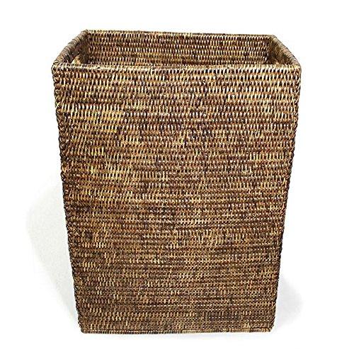 Saffron Trading Company Magazine Standing Basket - Antique Brown