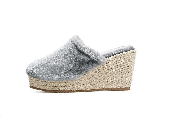 Da Zeppa Tacchi Con Sexy W55bh0nrq1 Pantofole Scarpe Calde Donna x5IZYS