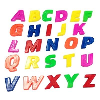 Afco 26Pcs Lower/Upper Case Alphabet Letters Number Fridge Magnet Kid Learning Toy Brain Game size Upper Letters (Upper Letters): Toys & Games