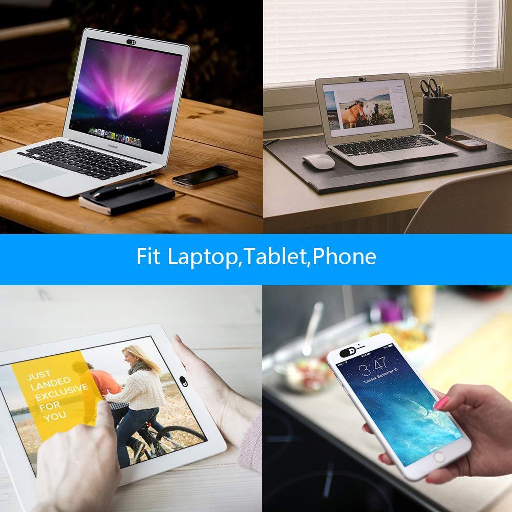 sweguard Webcam Abdeckung Laptop 8 St/ück Webcam Cover schwarz/&wei/ß 0.027 Ultra d/ünne passt Echo Spot Smartphones Tablets Macbooks Computer