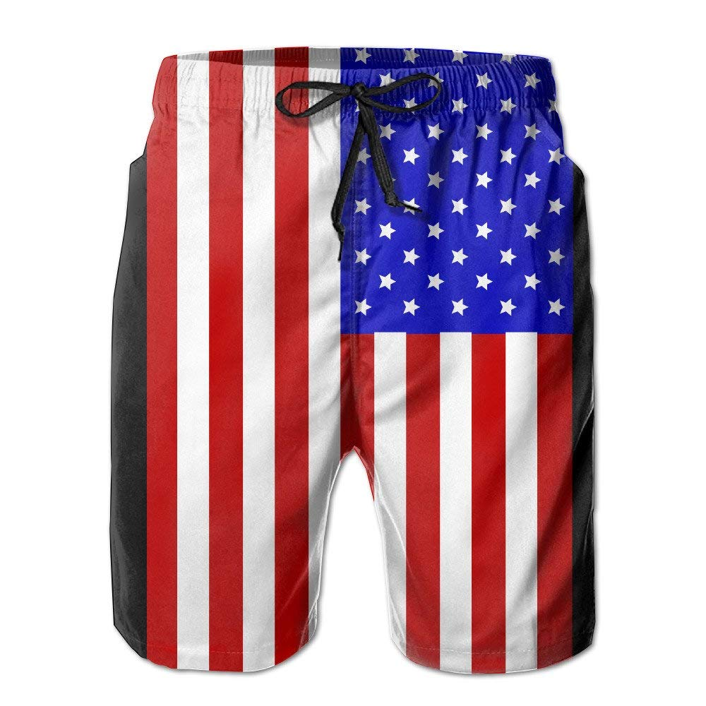 ZGXJJPP American Flag Fashion and Style Mens Workout/&Swim Trunks Quick Dry Board Shorts with Pockets and Drawstring