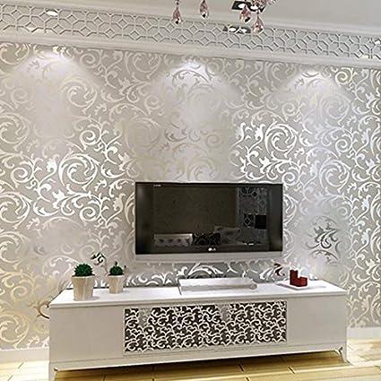 Textured Wall Pops Stick Wallpaper Modern Non Woven 3d Emboss
