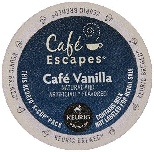 Cafe Escapes Cafe Vanilla K-Cups 1 Box (12 K-Cups) (Vanilla Keurig Cafe)