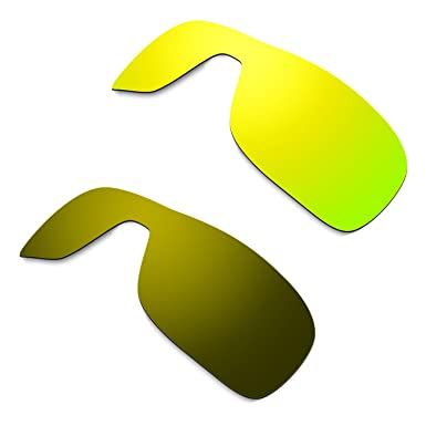 HKUCO Mens Replacement Lenses for Oakley Trillbe 24K Gold/Titanium Sunglasses