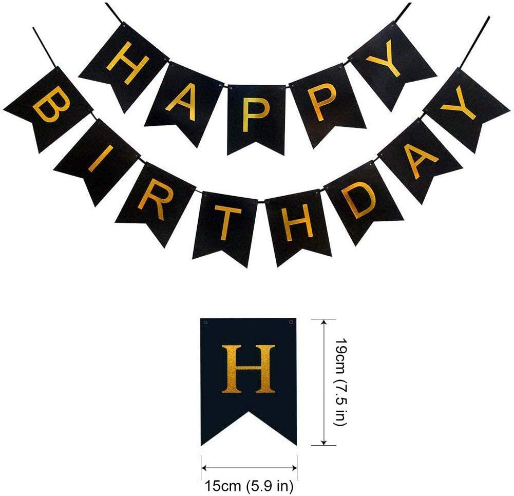 50 year Birthday Party Banner Balloon Happy Birthday Banner for 50th Men Birthday Decoration,50th Women Party Supplies Black and Gold 50th Birthday Decorations,Number 50 Balloons