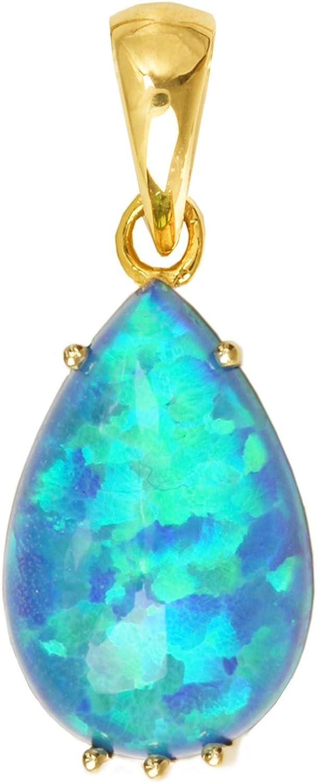 MyGold V0005490 Colgante de piedras preciosas (sin cadena), oro amarillo 333, con ópalo trillado, gota