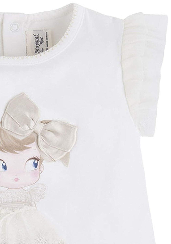 Baby Girls 3M-24M Flutter Sleeve Novelty Print Short Sleeve T-Shirt