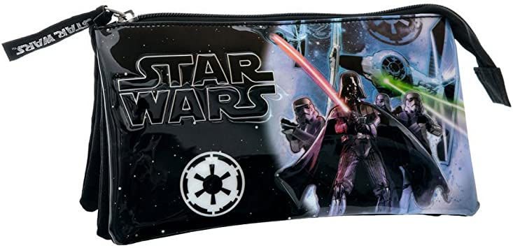 Star Wars Estuche Tres Compartimentos, Color Negro, 1.32 litros: Amazon.es: Equipaje