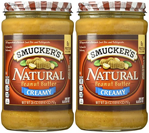Smucker's Creamy Natural Peanut Butter - 26 oz - 2 Pack ()