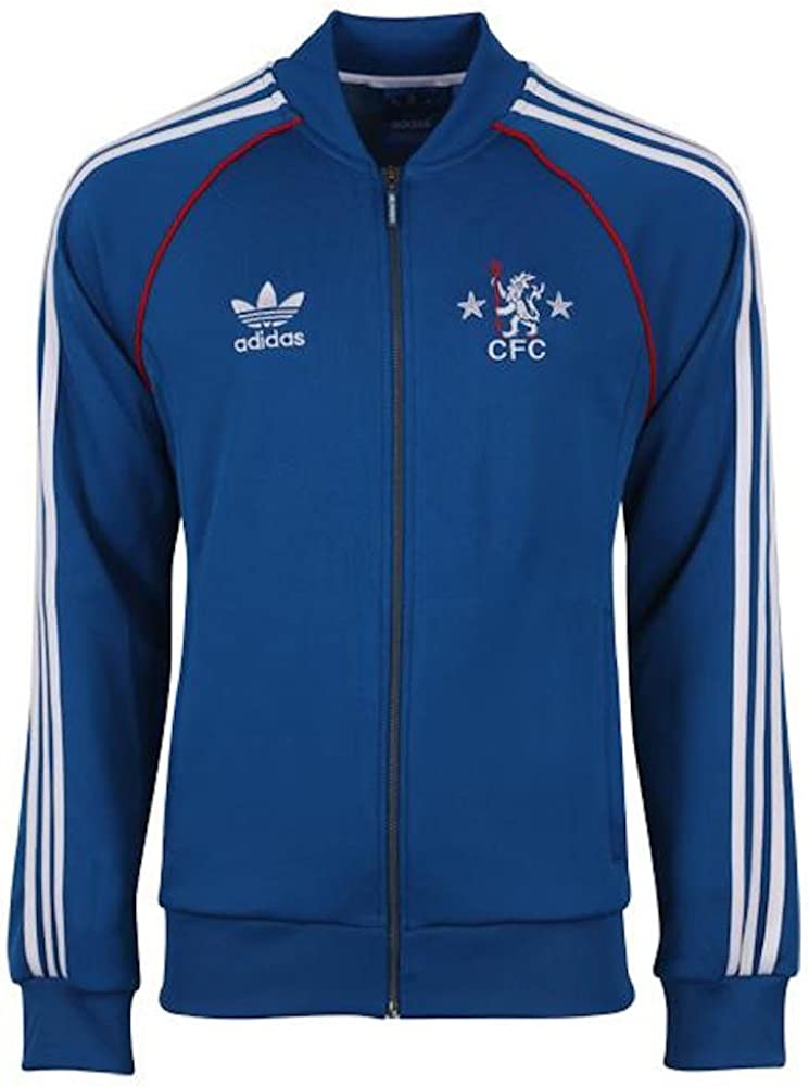 Details about adidas Chelsea Anthem Jacket Mens Grey