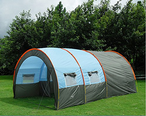 Tunnel tents Waterproof Canvas Fiberglass 5-8 People Family Tents equipment outdoor mountaineering Party