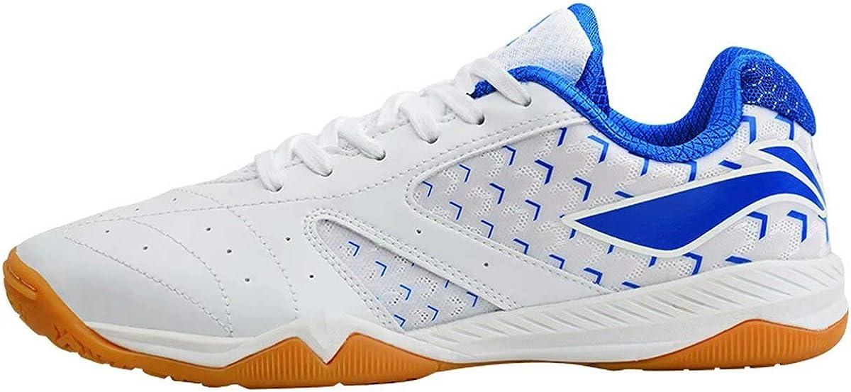 LI-NING Aurora APPM001 - Zapatillas de Tenis de Mesa para Hombre, Blanco (Azul Blanco), 41.5 EU: Amazon.es: Zapatos y complementos