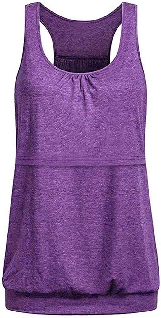 general3 Women Maternity Tank Tops Loose Comfy Layered Nursing Vest Shirt Breastfeeding Tunic Blouse