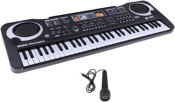 Multifuncional 61 Teclas Órgano Eléctrico / Piano Electrónico ...