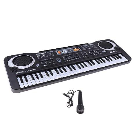 a27e596d0ba27 IPOTCH 61 Teclas Juguetes Instrumento Eléctrico de Percusión Teclado Piano  de Plástico para Niños