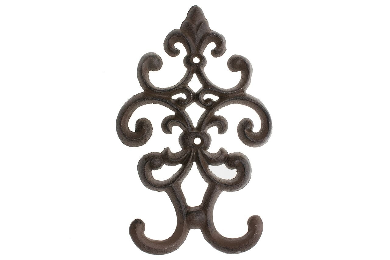 "Comfify Cast Iron Vintage Double Wall Hook | Decorative Wall Mounted Coat Hanger | 7.75"" x4.8"" 