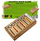 Mastermind Game of Codemaker vs. Codebreaker Top Strategy Wooden Board games for kids and adults