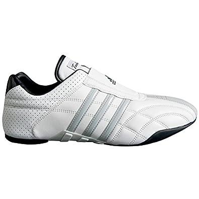 : adidas taekwondo adilux scarpe (4, white w / strisce grigie