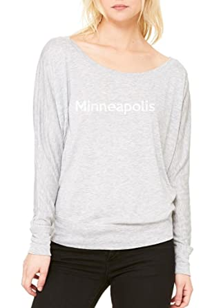 Ugo Minneapolis MN Map Flag Golden Gophers Home University Womens Flowy Long Sleeve Off Shoulder