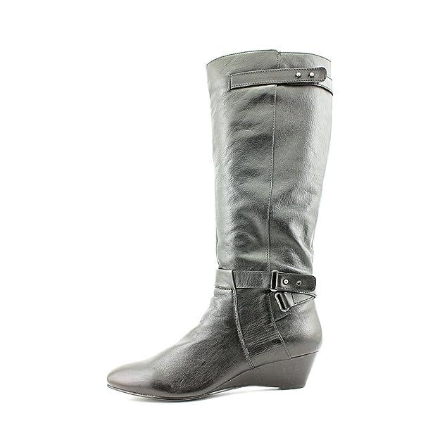 a006d55bcb81a4 Bandolino Alvaw Damen Rund Leder Mode-Knie hoch Stiefel Ohne Karton   Amazon.de  Schuhe   Handtaschen