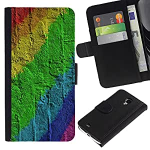 KingStore / Leather Etui en cuir / Samsung Galaxy S4 Mini i9190 / Pared de ladrillo Patrón Gay