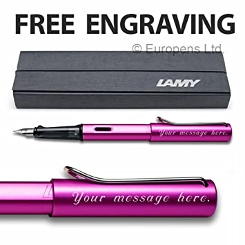 Lamy Al-Star Vibrant Rosa Pluma Estilográfica, 2018 Edición Especial - Libre Grabado: Amazon.es: Electrónica