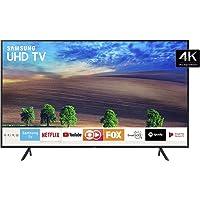 "Smart TV LED 55"" Samsung Ultra HD 4k 55NU7100 com Conversor Digital 3 HDMI 2 USB Wi-Fi Solução Inteligente de Cabos HDR Premium Smart Tizen"
