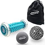 SUNANTH Foot Massager Roller,Massage Lacrosse Ball,Spiky Ball Therapy Set for Relieve Plantar Fasciitis,Heel & Foot Arch…
