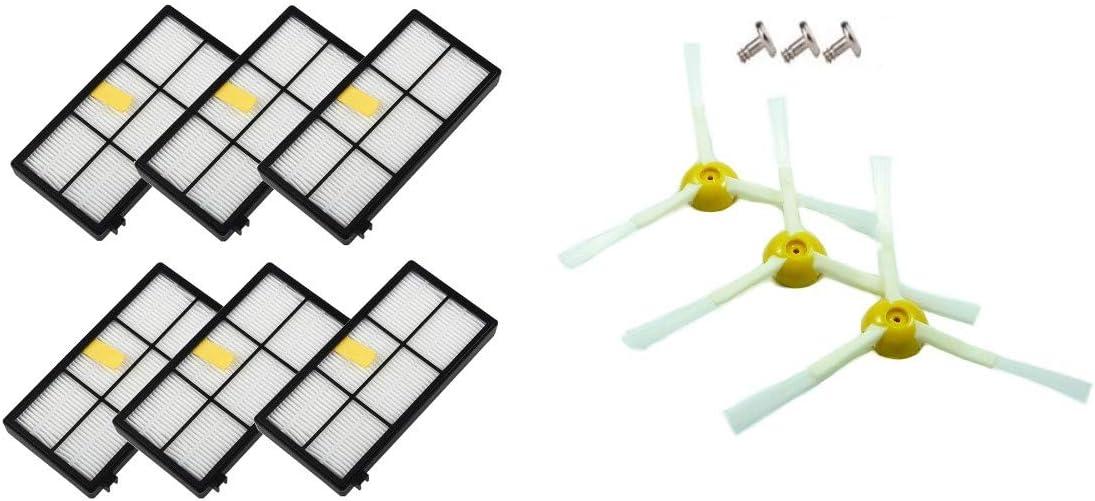 AplusTech Kit Accesorios de 6 Filtros y 3 Cepillos de 3-Armada + 3 ...