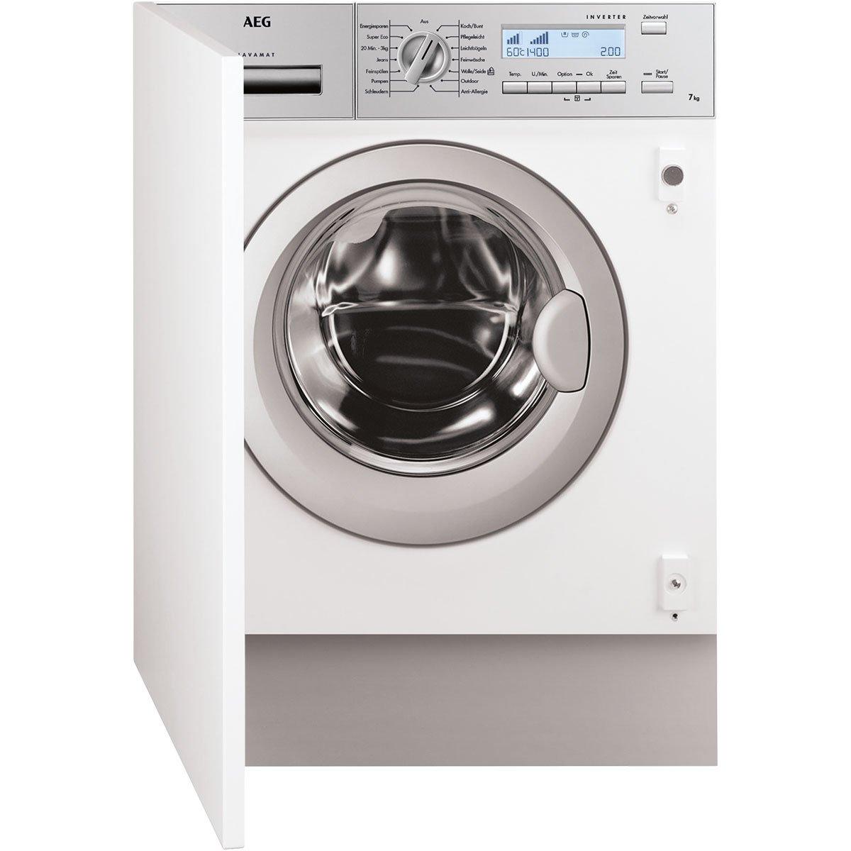 AEG L82470BI Incasso 7kg 1400RPM A+++ Bianco Front-load [Classe di efficienza energetica A+++]