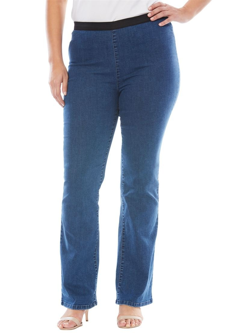 Jessica London Women's Plus Size Bootcut Stretch Denim Jeggings Medium