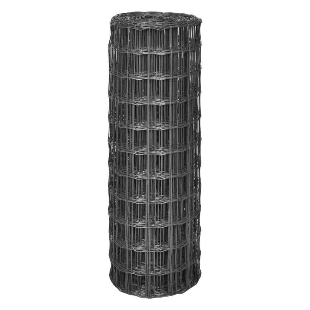 a prezzi accessibili Tuduo - Rete di Recinzione in Acciaio, Grigio, 25 x x x 1 m, con 77 x 64 mm  distribuzione globale