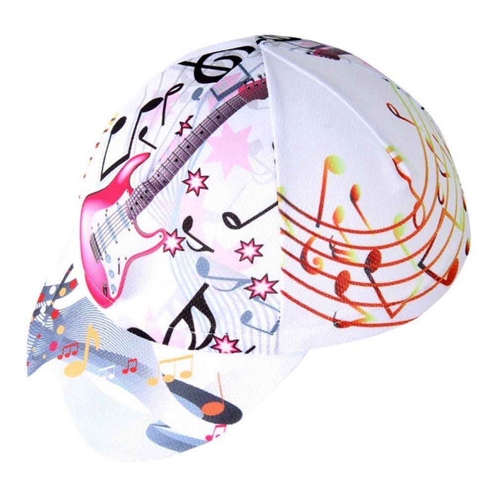 Uriahサイクリングキャップ通気性Fits Underヘルメット  Guitar White B06XGDZ17X