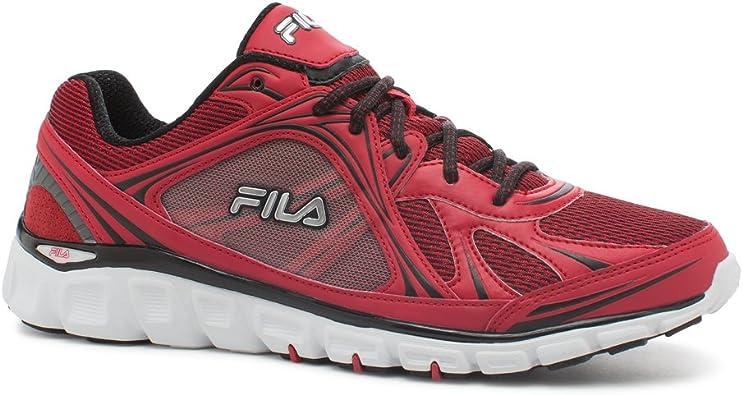 Fila Memory del Castigo del Hombre de Zapatillas de Atletismo, Plateado (Plateado, Negro, Rojo (Metallic Silver, Black, Fila Red)), 8 D(M) US: Amazon.es: Zapatos y complementos