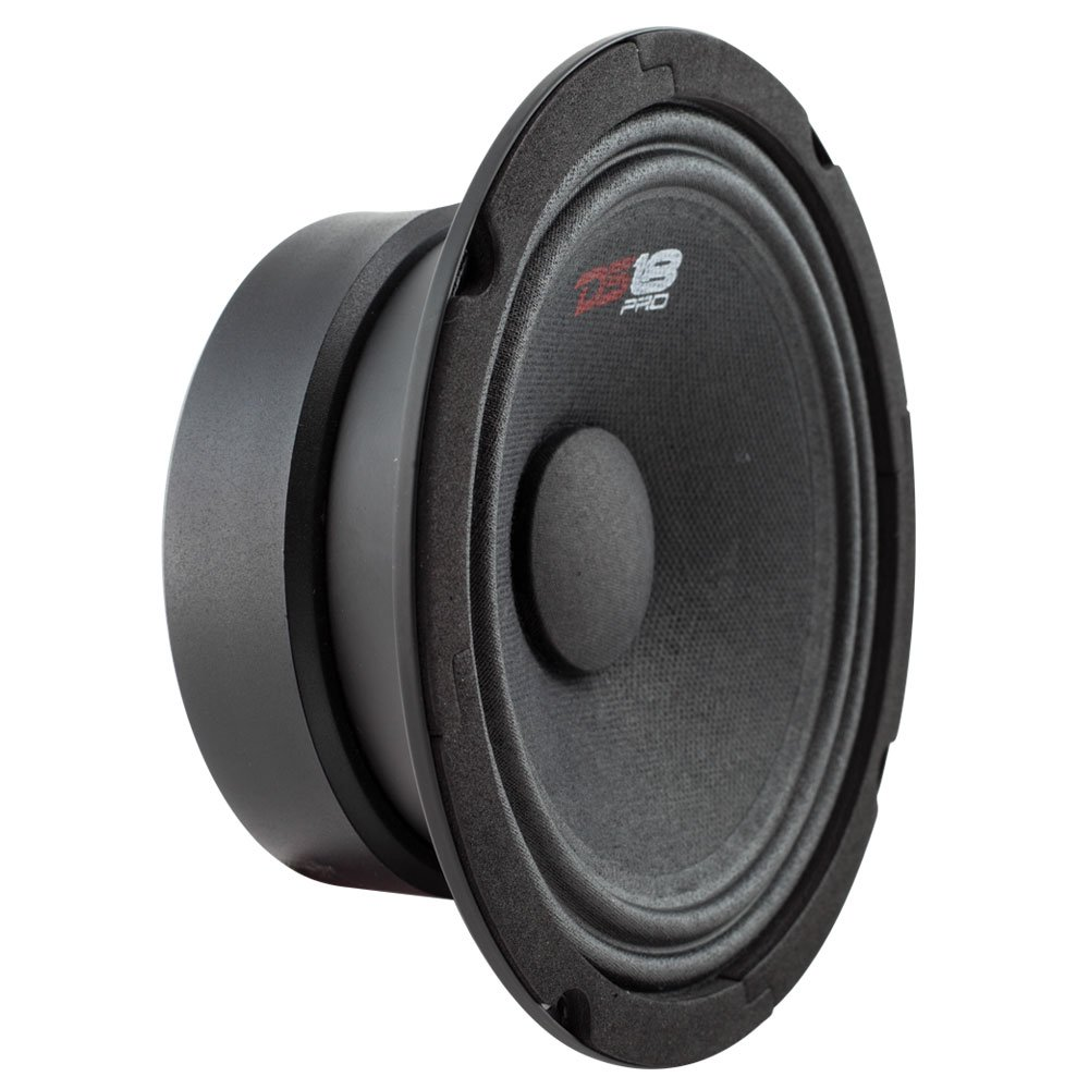 DS18 PRO-GM6SE Loudspeaker - 6.5'', Midrange, Sealed Back, 480W Max, 140W RMS, 8 Ohms - Premium Quality Audio Door Speakers for Car or Truck Stereo Sound System (1 Speaker)