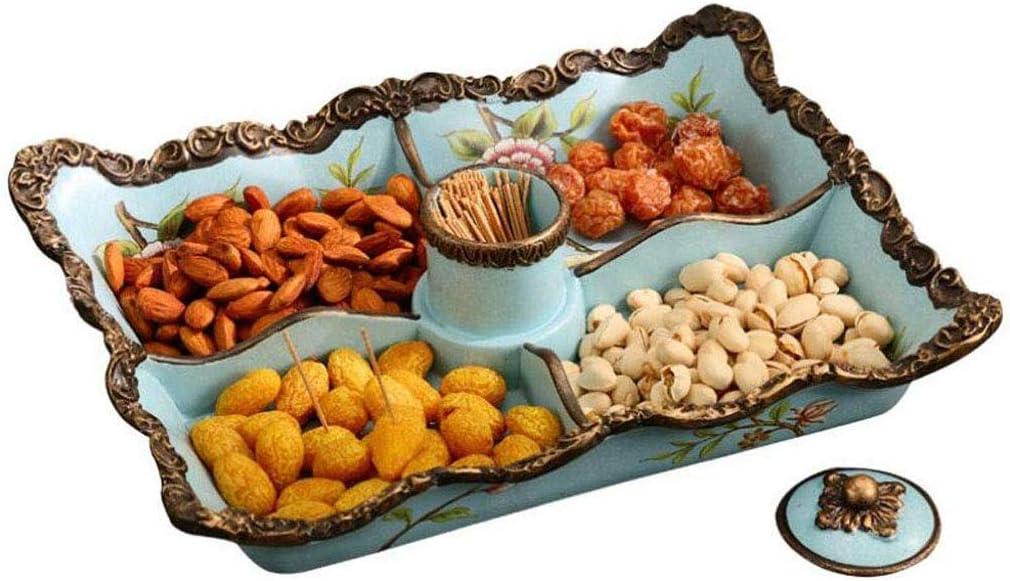 Allamp Cesta de frutas, fruta de la placa de estilo europeo sala de mesa de café de la decoración del hogar del jardín de América seca plato de fruta creativas tres ornamentos tazón de cuadrícula Herr