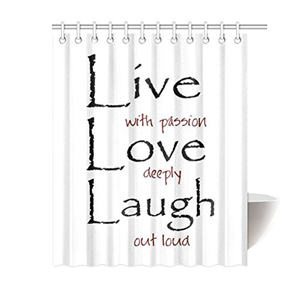 Saying Live Laugh Love Quotes Art For Home Bathroom Shower Curtain