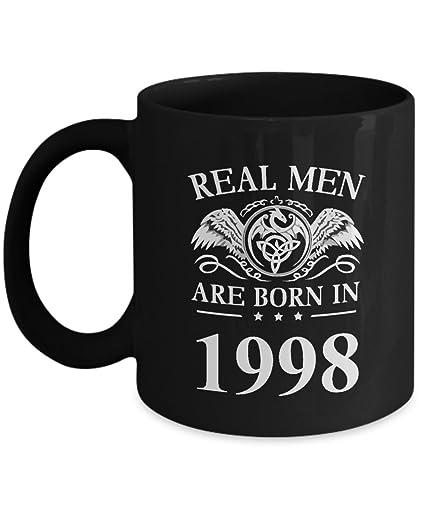 Amazoncom Birthday Coffee Mug Real Men Are Born In 1998