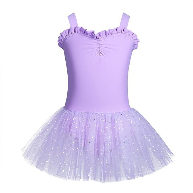 ranrann Vestido de Danza Ballet para Niña Maillot de Gimnasia ...