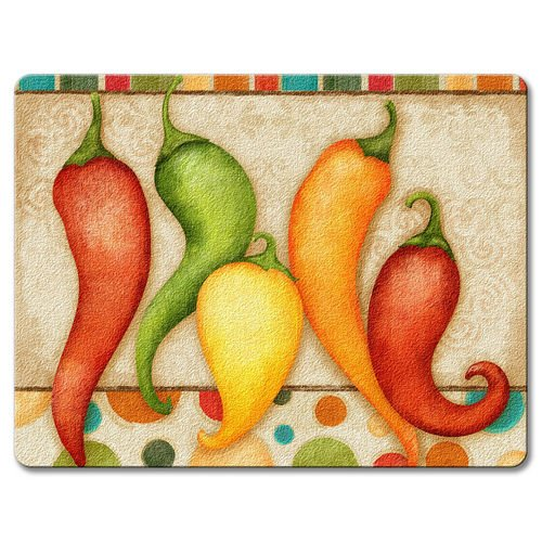 Fiesta Peppers Small Glass Cutting product image