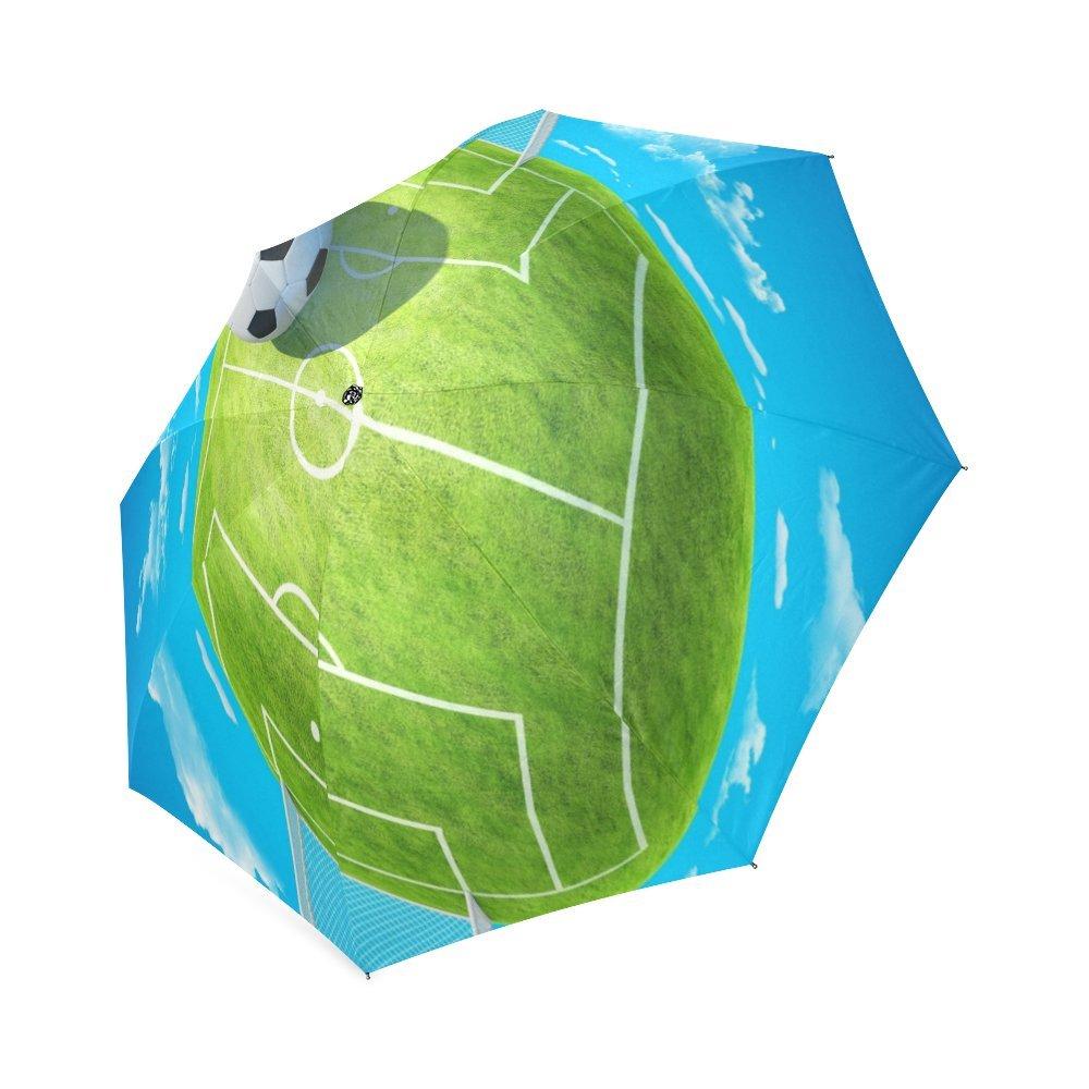 Personalizados de fútbol resistente al viento resistente al agua plegable paraguas de viaje compacto: Amazon.es: Deportes y aire libre