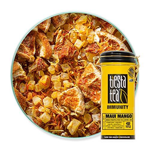 Tiesta Tea | Maui Mango, Loose Leaf Mango Pineapple Fruit Tea | All Natural, Caffeine Free, Immunity Boosting, No Artificial Flavors/Preservatives | 6oz Tea Tin Canister - 50 Cups | Mango Herbal Tea