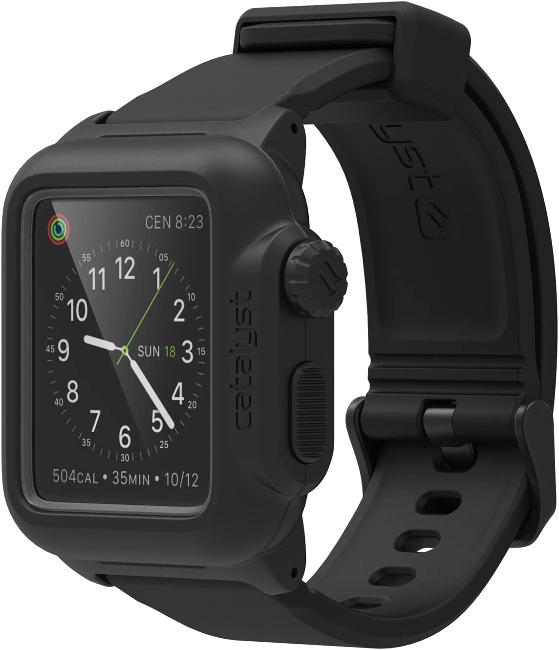 Waterproof Case Designed for Apple Watch Series 1 42mm by Catalyst, Shock Proof Premium Material Quality for Hiking, Swimming (Stealth Black)