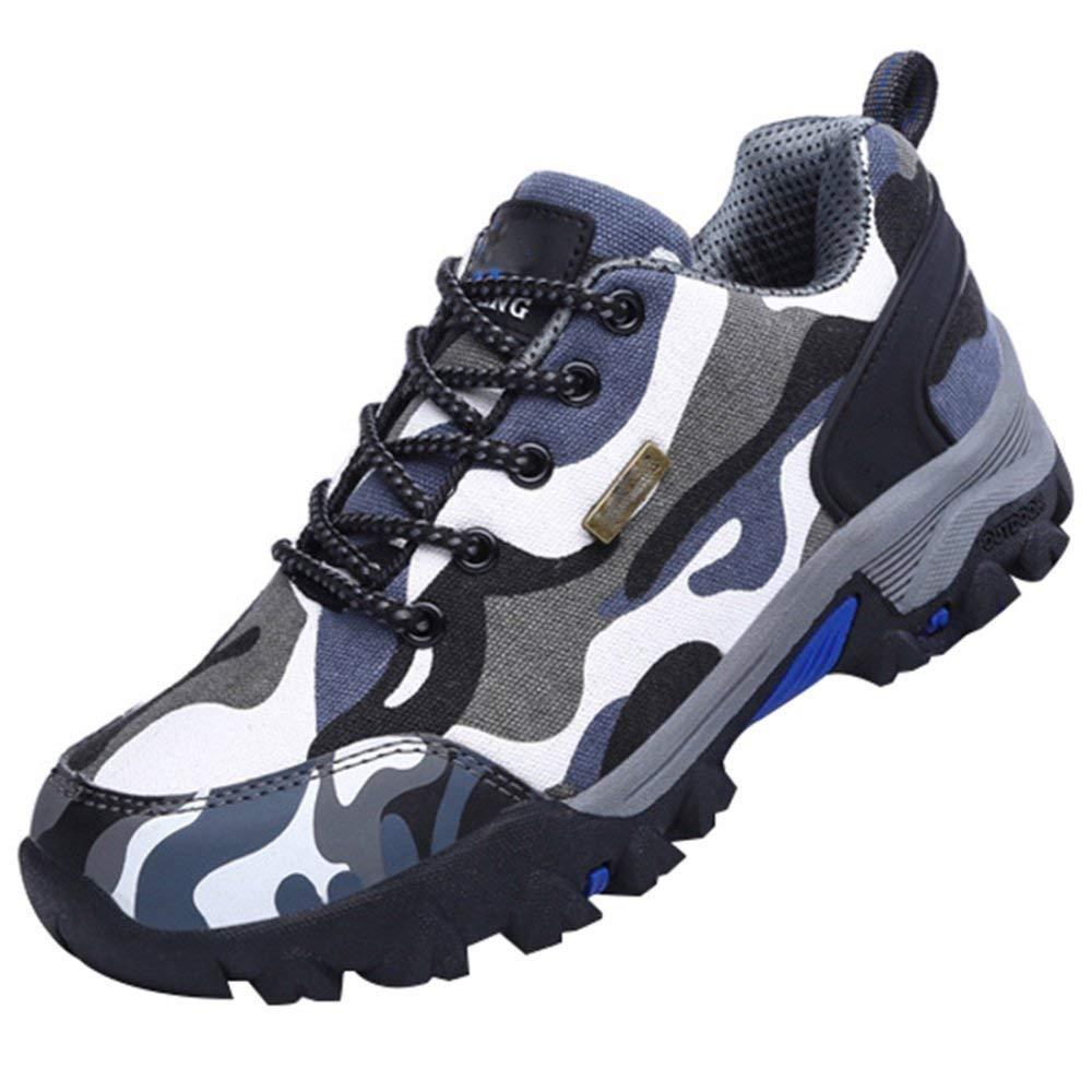 Oudan Outdoor-Wanderschuhe Herren Wanderschuhe Paar Modelle Off-Road-Schuhe Rutschfest Verschleißfeste Atmungsaktiv (Farbe : Blau, Größe : 41EU)