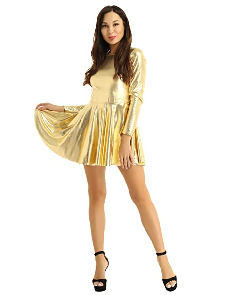 YiZYiF Mini Vestido Corto Mujer Vestido de Fiesta Brillante ...