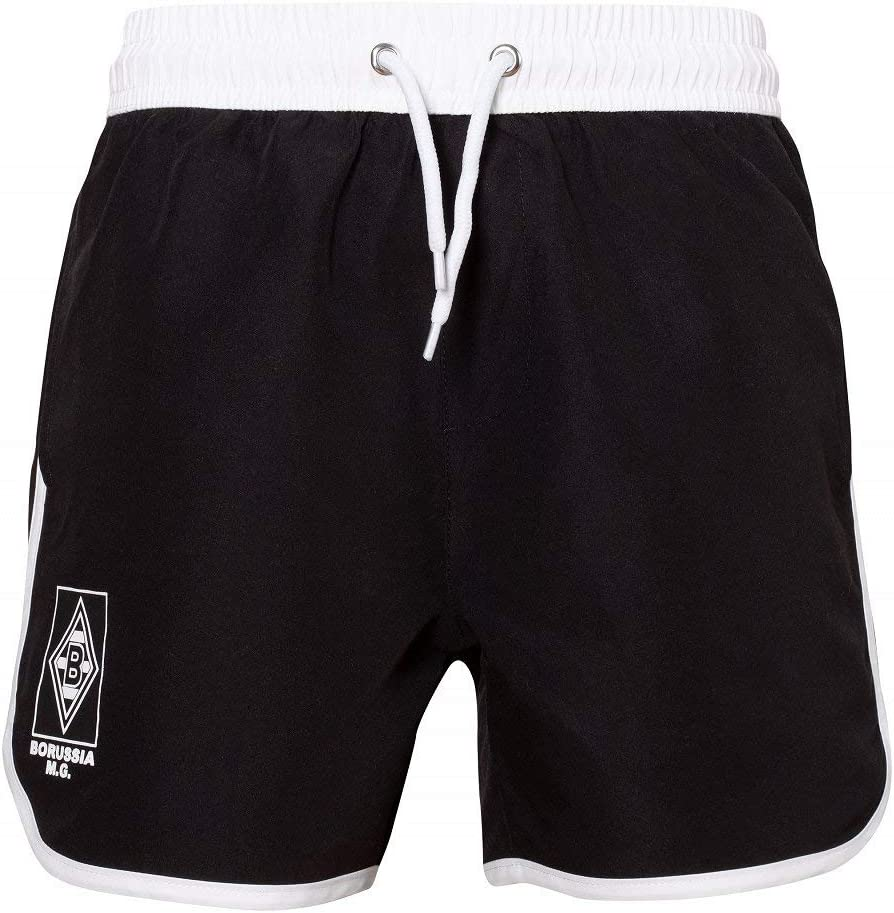 Borussia M/önchengladbach Kinder Badehose Black /& White
