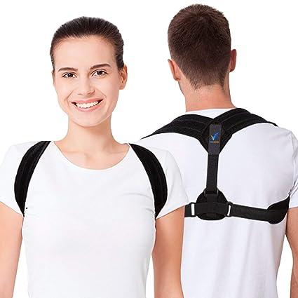 Verback Corrector de postura para mujeres y hombres – Soporte de espalda para hombro – Eficaz